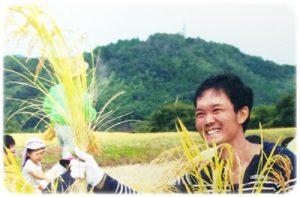 地域の収穫体験に参加した高口