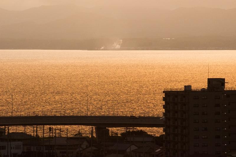 夕暮れの松江